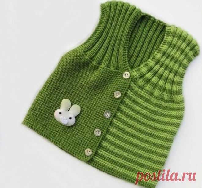 Жилетка для малышей Универсальный способ вязания жилетки для малышей
