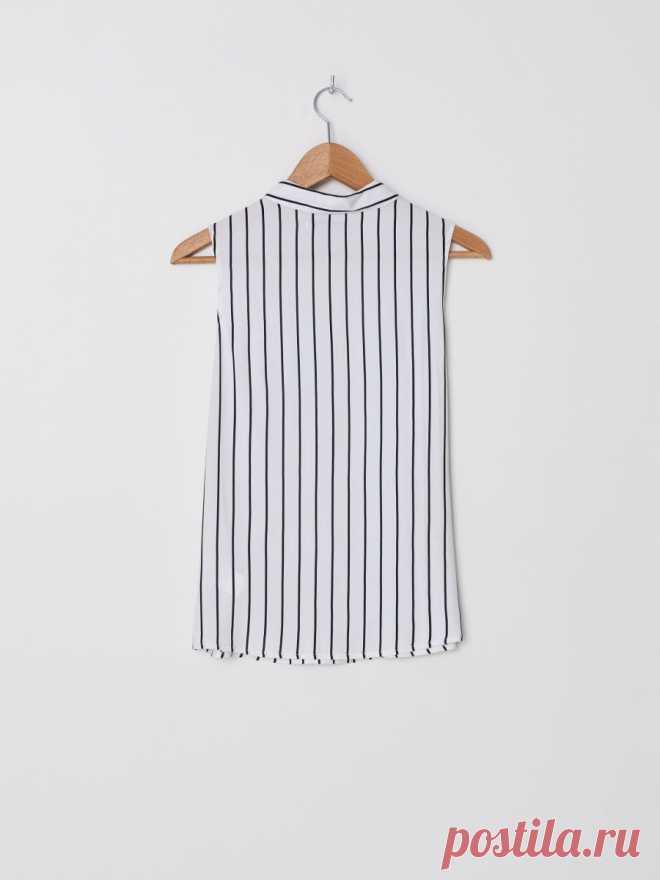 Рубашка без рукавов, HOUSE, YP696-01X