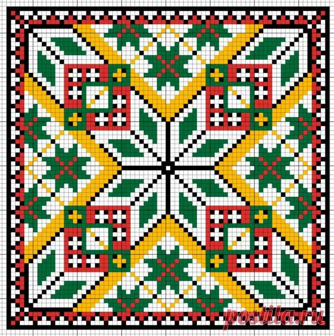 30 схем для вышивания декоративных подушечек и бискорню - Сам себе волшебник