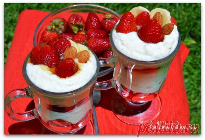Десерт из рикотты и клубники — Привет, Кухонька! Пошаговые рецепты с фотографиями