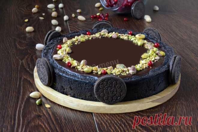Торт с соленой карамелью шоколадный рецепт с фото - 1000.menu