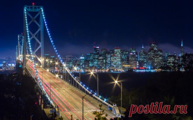 «Мост между Сан-Франциско и Оклендом (Калифорния, США)» — карточка пользователя Алёна Ростунцова в Яндекс.Коллекциях