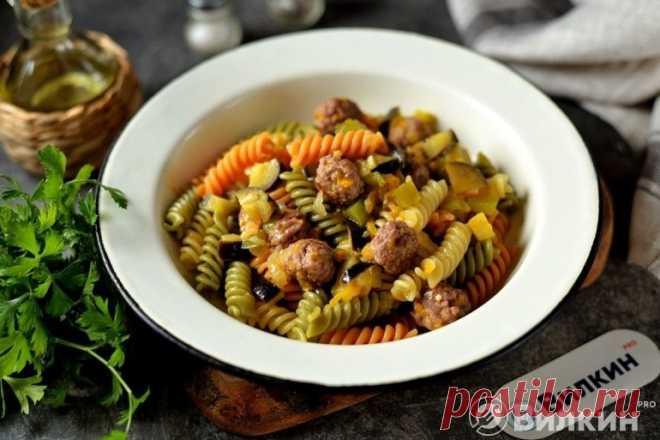 Макароны с баклажанами, помидорами и фаршем - рецепт с фото пошагово