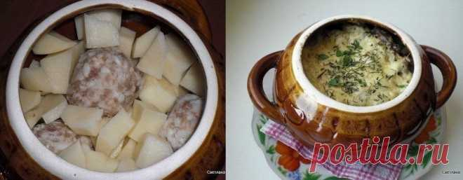 Отличный вариант ужина: Фрикадельки с картошкой и грибами под сыром