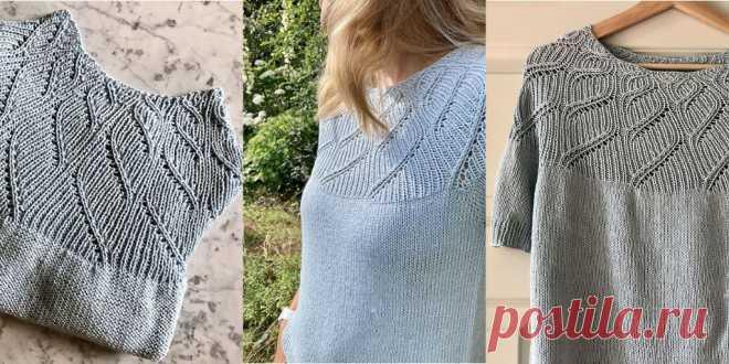 Летний пуловер Pastel Blue - Вяжи.ру