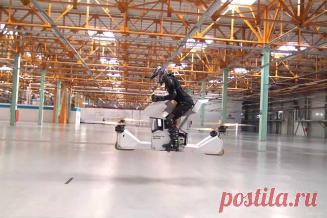 Scorpion 3 — электрический ховербайк из России  Российский стартап Hoversur продемонстрировал испытания нового отечественного летающего мотоцикла Scorpion 3. Электрический пилотируемый (есть ручное и автоматизированное управление) ховербайк, предс…