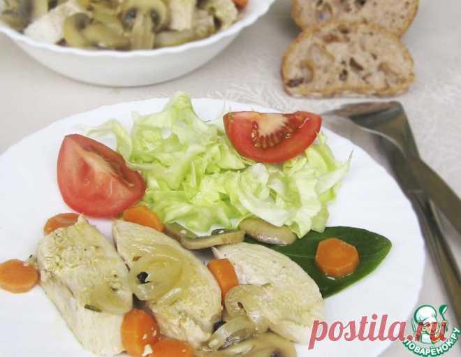 Эскабече из курицы с шампиньонами – кулинарный рецепт