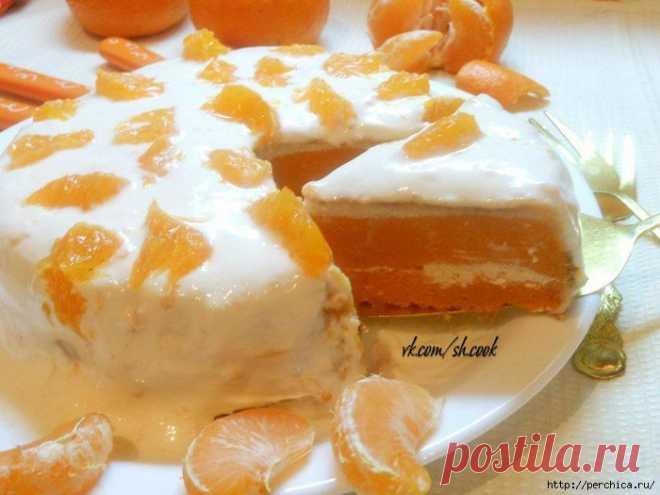 """Торт-пирог """"Оранжевый взрыв""""."""