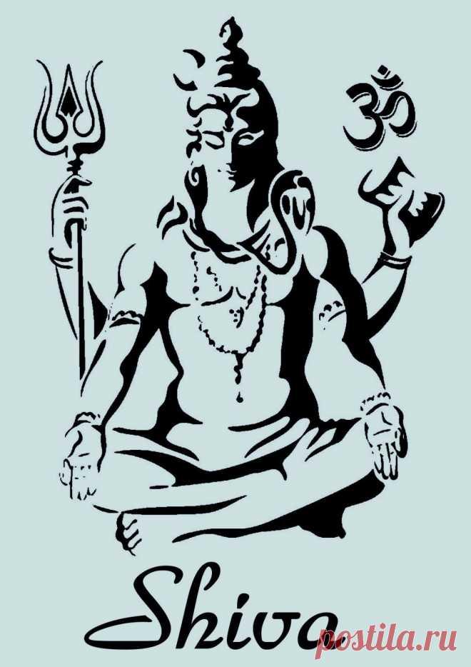 Schablone** - Shiva Gottheit - **A4****für Stoffe, Möbel usw.- ** Nr.: 949 | eBay