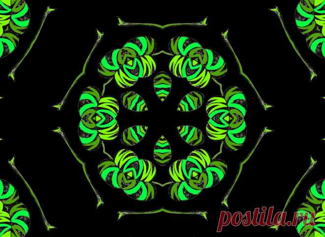 Green Floral Mandala  Free Stock Photo HD - Public Domain Pictures
