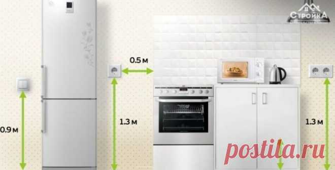 Распределение выключателей и розеток на кухне   Роскошь и уют