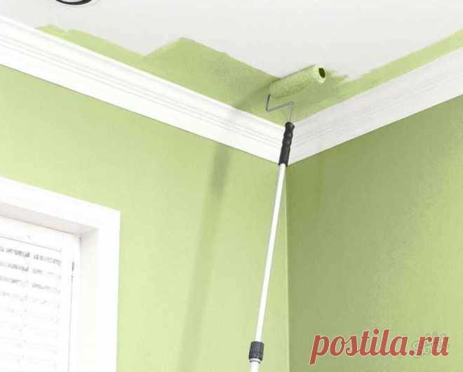 Красим потолок водоэмульсионной краской: 5 лайфхаков для качественного результата — Строительство и отделка — полезные советы от специалистов