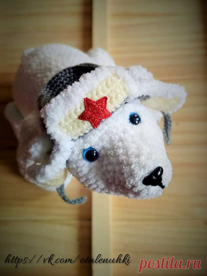 Белый медведь крючком