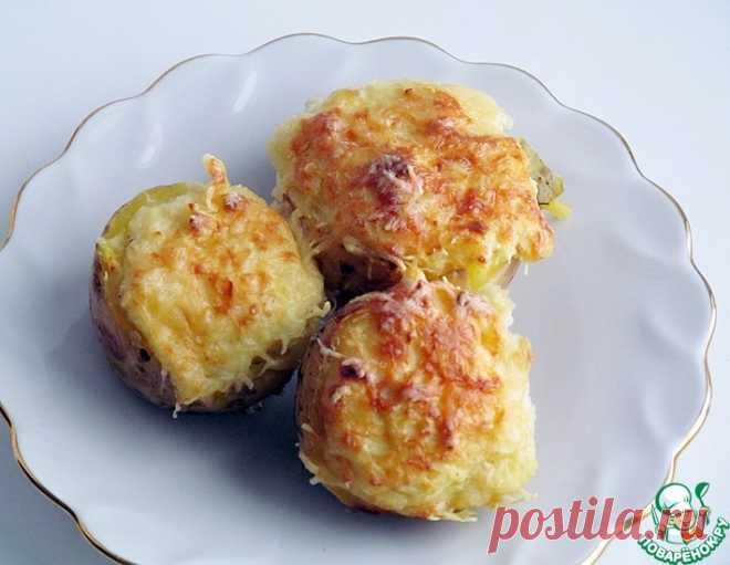 Картофель, фаршированный сыром – кулинарный рецепт