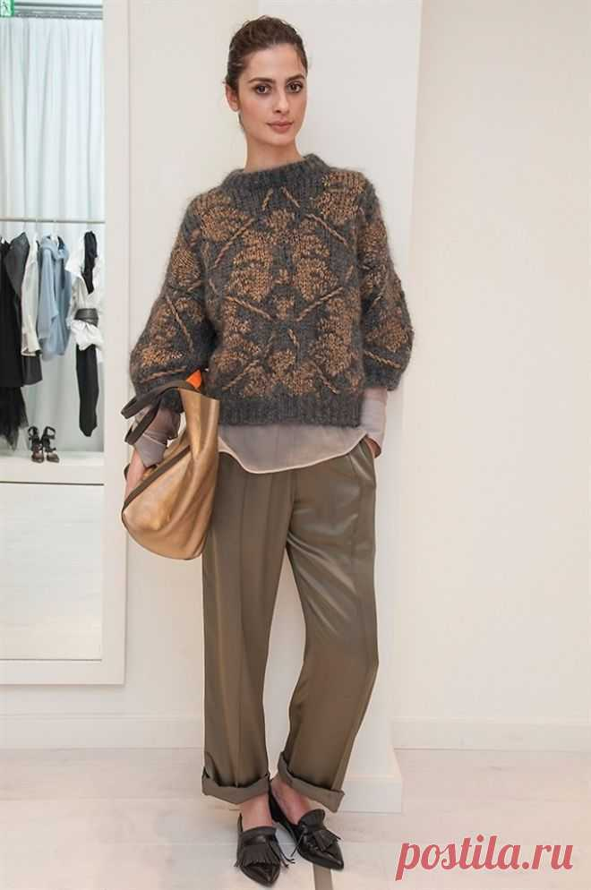 Пуловер из коллекции Brunello Cucinelli Fall 2017