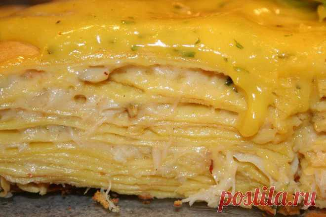 Блинно-сырный тортик..