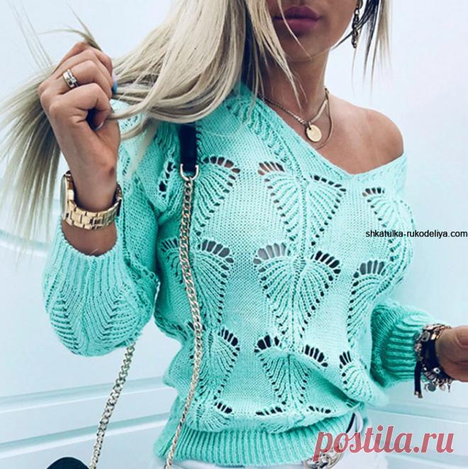 Красивый и необычный узор для пуловера. Новинка 2021 Красивый и необычный узор для пуловера. Новинка 2021. Модный осенний узор для пуловера спицами