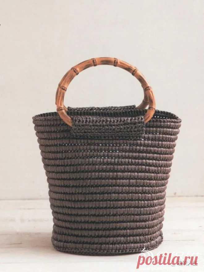 Сумка из рафии, на основе шнура. Крючком. МК. / xiaosuoge.com
