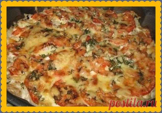 Минтай с помидорами и сыром за 30 минут - Обалденный диетический рецепт