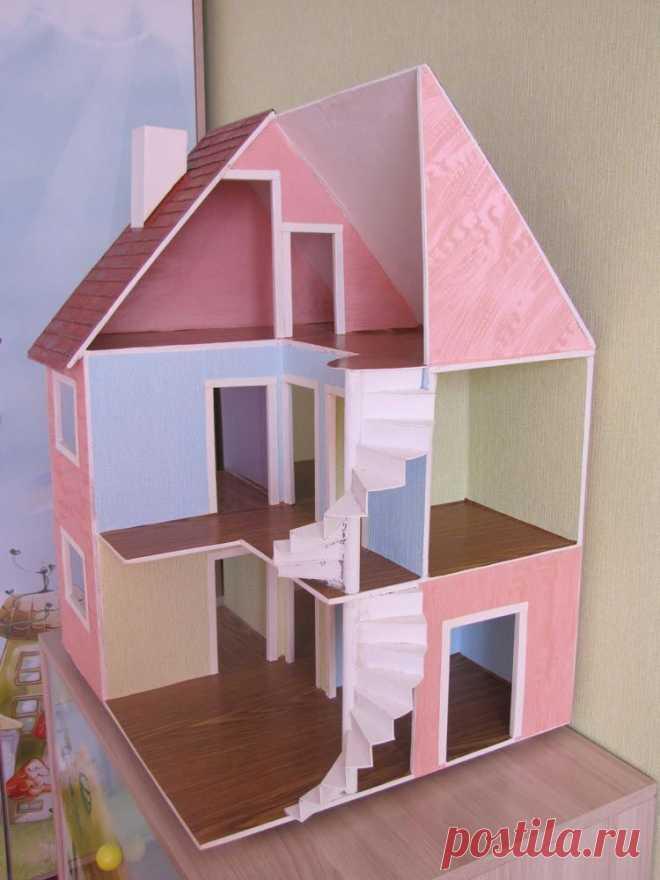 Мастерим кукольный домик из фанеры – Ярмарка Мастеров