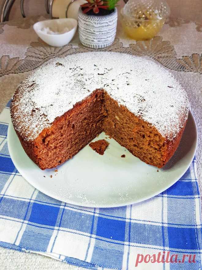 Шоколадный пирог с сахарной пудрой рецепт с фото пошагово