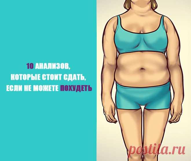 10 анализов, которые стоит сдать, если не получается похудеть