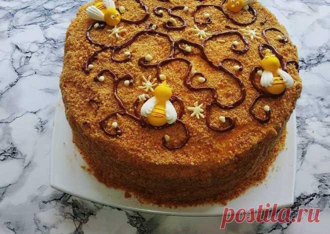 (5) Медовый торт - пошаговый рецепт с фото. Автор рецепта Кристина Красникова . - Cookpad