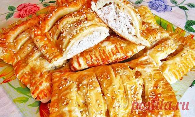 Слойки с курицей и сыром в духовке | Рецепты на SuperKuhen.ru
