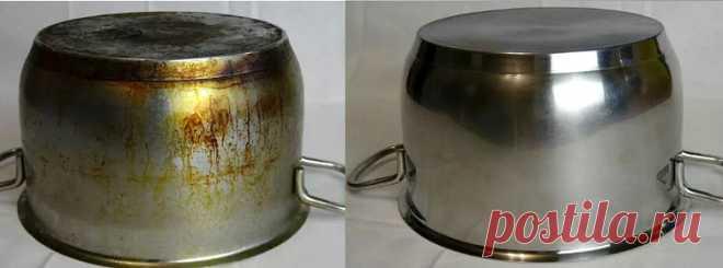 Как удалить нагар с кастрюли и сковороды в домашних условиях