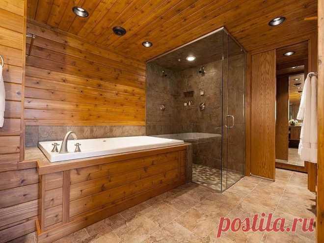 Материалы для покрытия пола в ванной комнате в доме из дерева - Мужской журнал JK Men's Ванная комната — помещение с особыми условиями эксплуатации, поэтому отделочные материалы в ней должны быть подобраны с особой тщательностью. Особенно