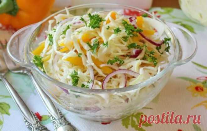 Капустный салат по-немецки Выдался большой урожай капусты и не знаете, что можно еще приготовить из нее в домашних условиях? Тогда возьмите на заметку этот рецепт и сделайте вкусный капустный салат по-немецки! Салат получается вкусным, свежим и хрустящим!