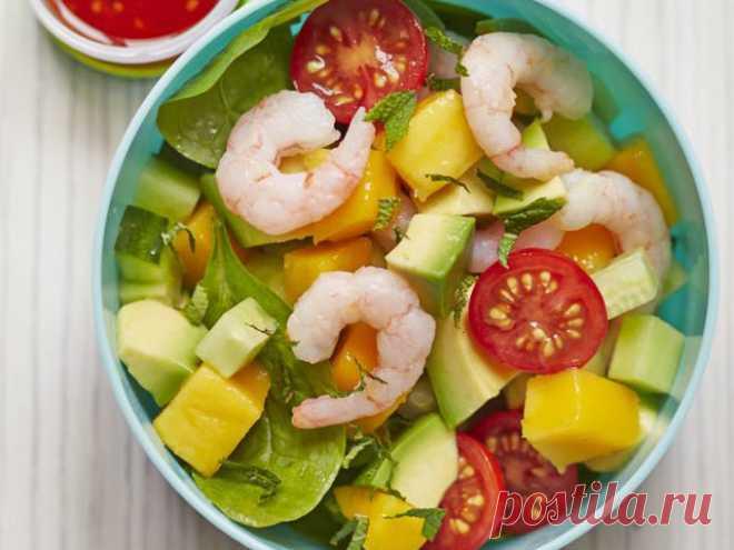 Как приготовить салат с креветками рецепт - Салаты и закуски - Smak