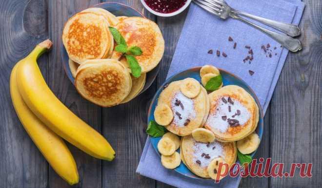 Банановые оладьи без сахара
