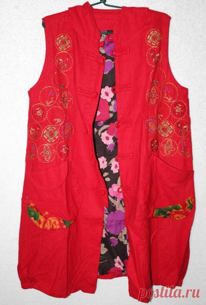 Women's long Sleeveless coat Hooded vest jacket for | Etsy