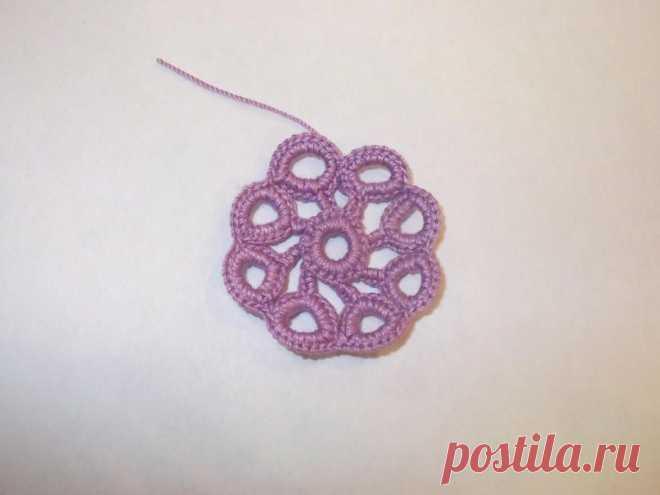 Vyvyazyvaniye of volume ringlets in equipment of the Irish lace - the Fair of Masters - handwork, handmade