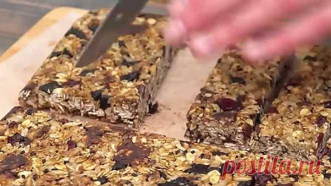 ДУХОВКА БОЛЬШЕ НЕ НУЖНА! Невероятно вкусные овсяные батончики
