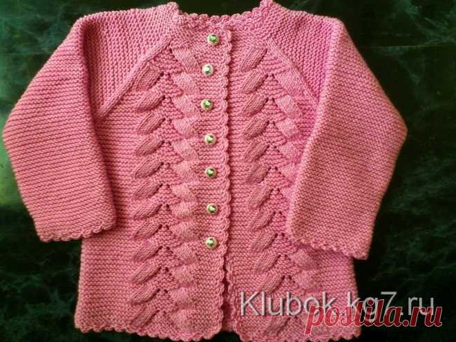 Jacket for the girl. Master Zhanna L. Master class and detailed description (Knitting by spokes and hook) | Inspiration of the Needlewoman Magazine