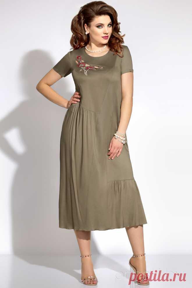 Платье Vittoria Queen 5823/2 хаки - купить с доставкой по России | Интернет-магазин «Presli.by»
