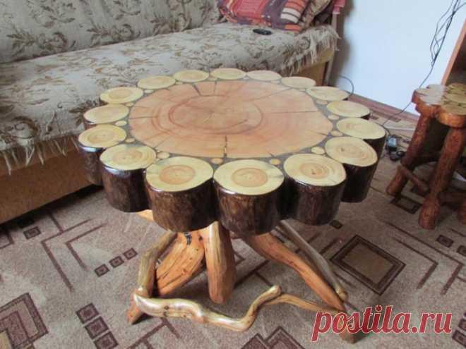 Идеи столиков из срубов