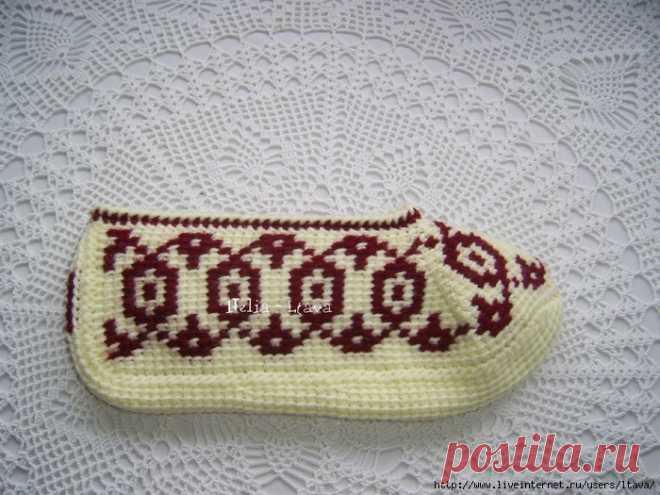 вязаные носки следки туниским узором - Поиск в Google