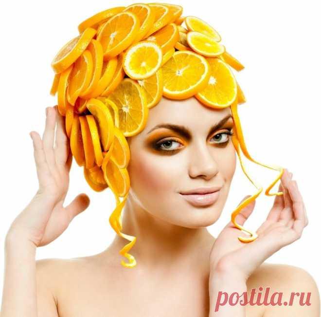 Цитрусовая маска для волос.