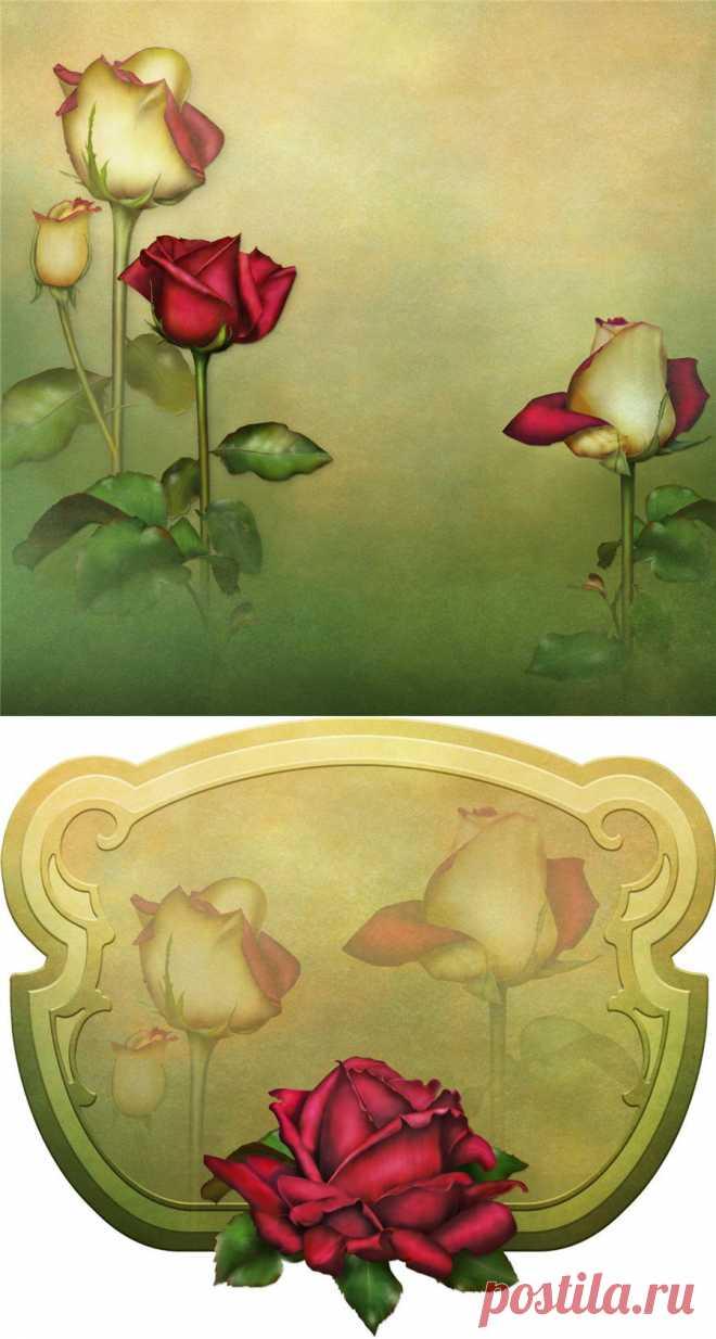 Картинки для декупажа. Фоны с розами.