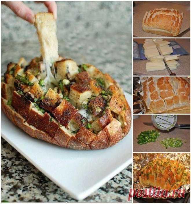 Вкусный хлеб с сыром и зеленью / Рецепты / ВТОРАЯ УЛИЦА