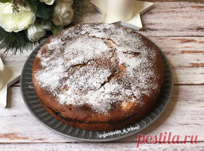 Нежный пирог с маковой прослойкой. Вкусно, просто и красиво! | Готовим просто и вкусно с Ириной | Яндекс Дзен