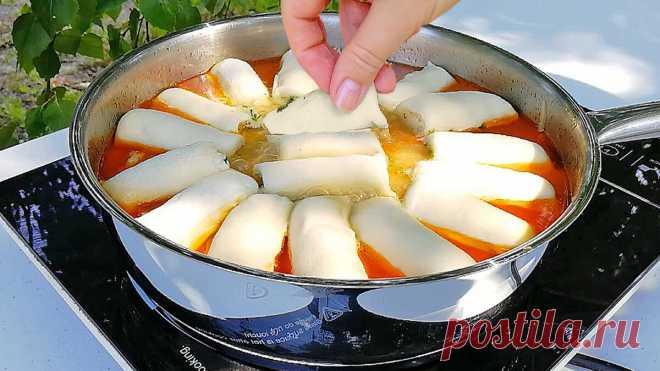 Обед на сковороде из простых продуктов. Курица и мука - два главных ингредиента 👩🍳