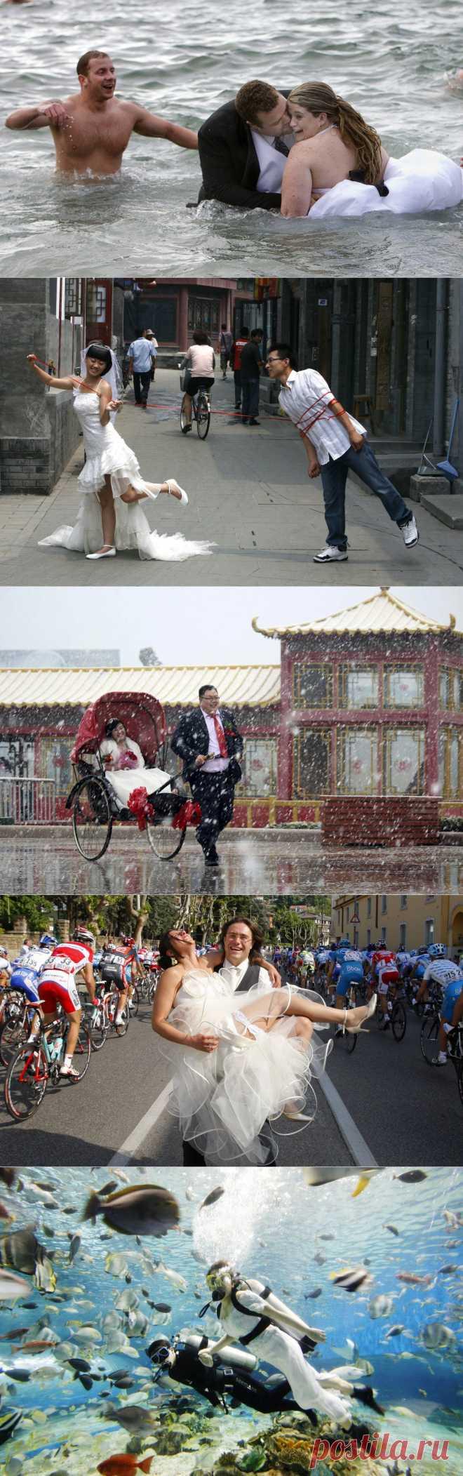 Странные свадебные фотографии со всего мира   MixStuff