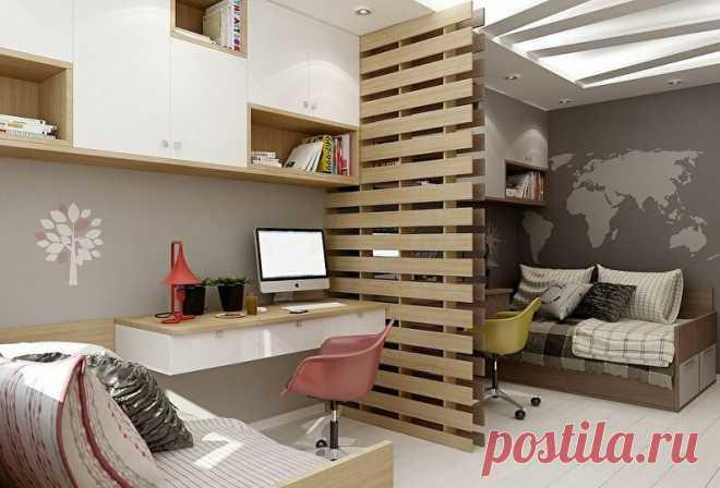 Стильный дизайн для детской для двоих — мальчика и девочки: планировка комнаты   Дизайн и Фото   Яндекс Дзен