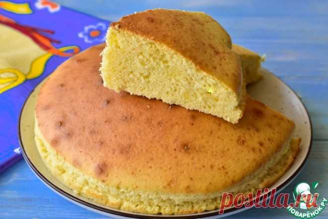 Бисквит на кефире Кулинарный рецепт