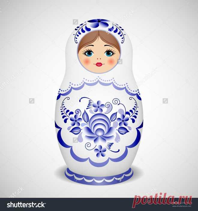 Russian Dolls - Matryoshka. Vector Illustration - 227815750: Shutterstock