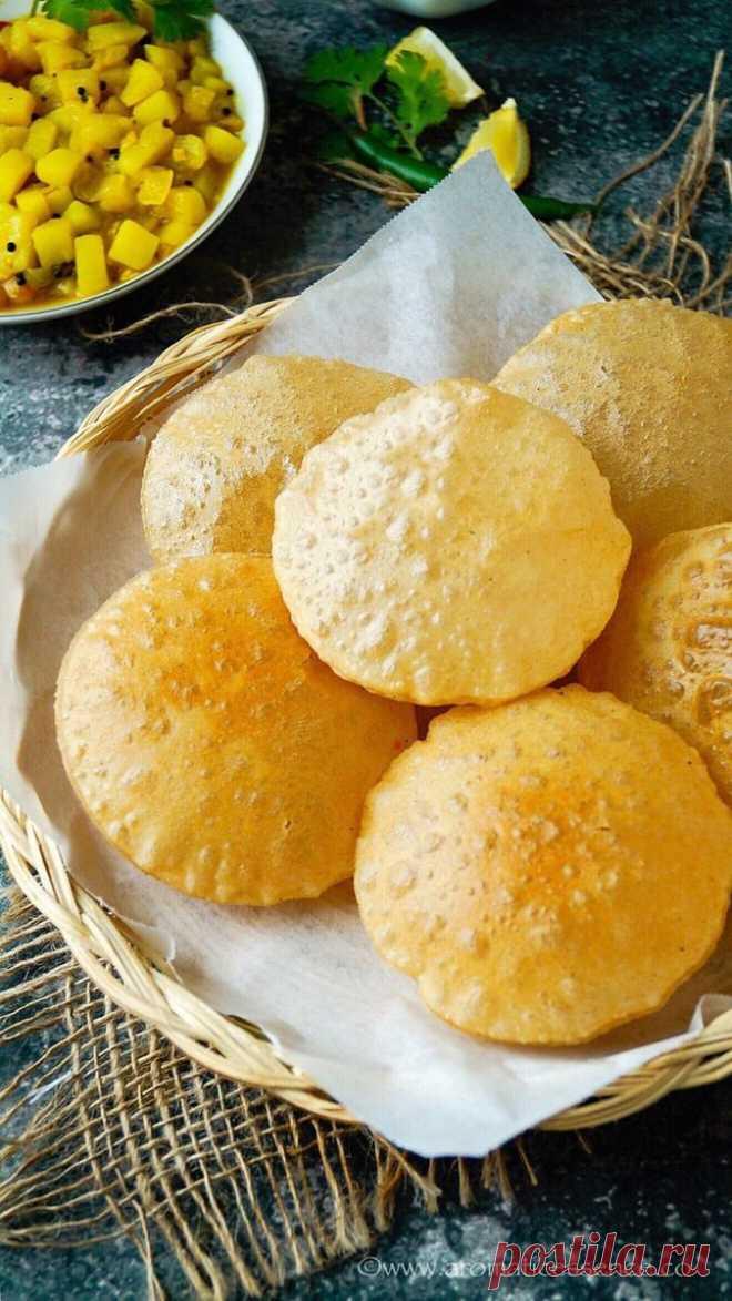 """Вместо хлеба за несколько минут. Легкие и хрустящие индийские лепешки """"Пури""""   Ленивая хозяйка. Кухонные эссе   Яндекс Дзен"""